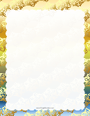 Snow On Blue Page Border Templates