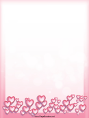 Pink Hearts Page Border Templates