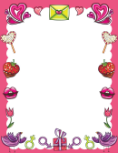 Love Letter Page Border Templates