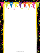 Party Starts Page Border Templates