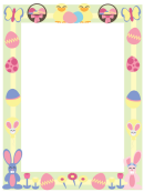 Pastel Easter Page Border Template