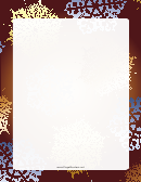Snowflakes On Brown Background