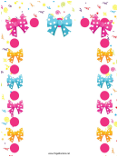 Party Bowties Page Border Templates