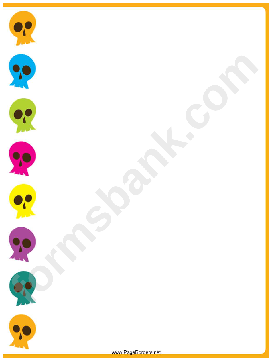 Skulls Page Border Templates