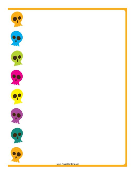 Skulls Page Border Templates Printable pdf