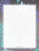 Winter Page Border Templates