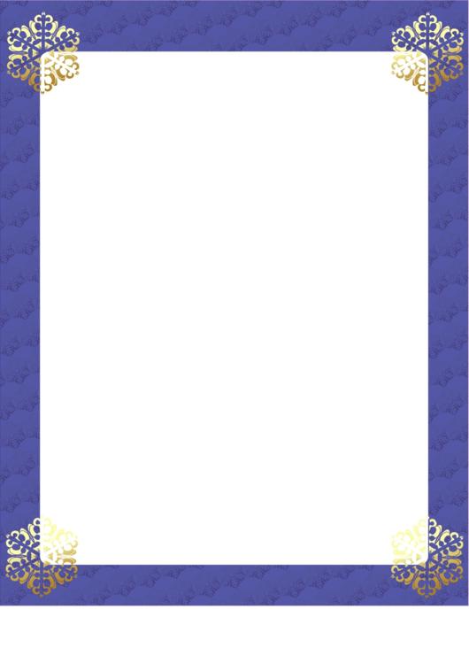 Snow Page Border Templates Printable pdf