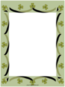 Clover Page Border Templates