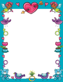 Afrocupids And Love Artifacts Page Border Templates