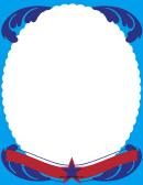 Blue Swirls Page Border Templates