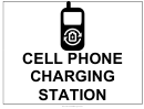 Cell Phone Charging Station Sign
