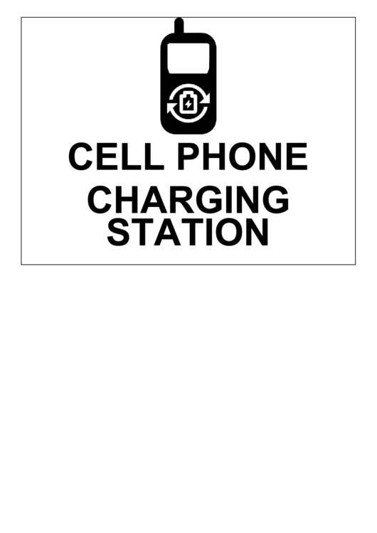 Cell Phone Charging Station Sign Printable pdf