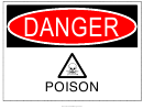 Danger Poison Warning Sign Template