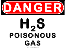 Danger H2s Poisonous Gas Warning Sign Template