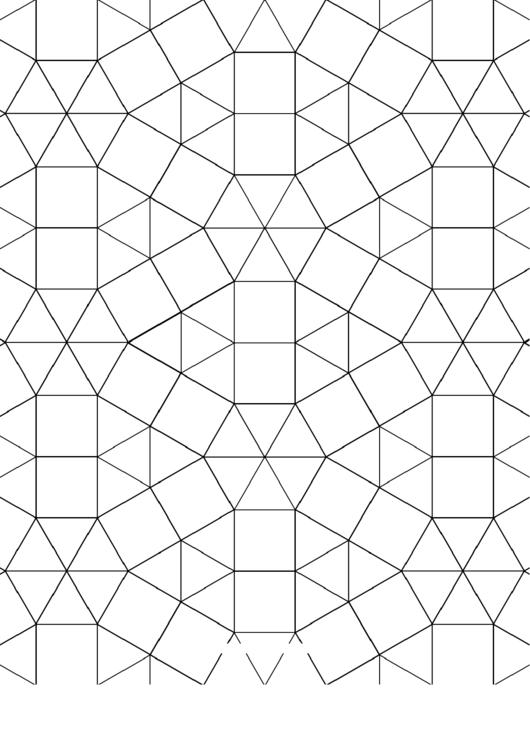 3-3-3-3-3-3 3-3-4-3-4 Tessellation Paper Template Printable pdf