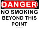 Danger No Smoking Beyond This Point Warning Sign Template