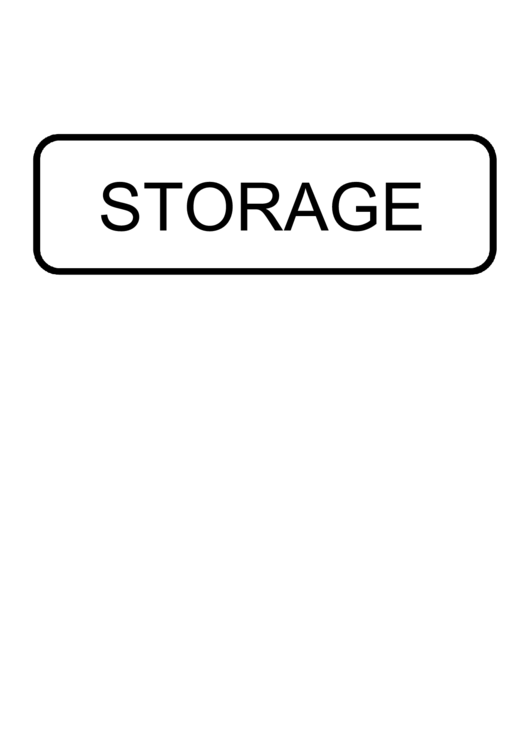 Storage Sign Template Printable pdf