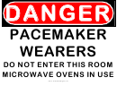 Danger Pacemaker Wearers Do Not Enter Warning Sign Template