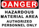 Danger Hazardous Material Area Warning Sign Template
