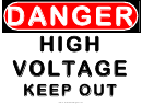 Danger High Voltage Keep Out Warning Sign Template
