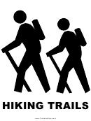 Hiking Trails Sign