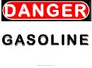 Danger Gasoline Warning Sign Template