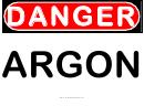 Danger Argon Warning Sign Template