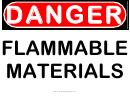 Danger Flammable Materials Warning Sign Template