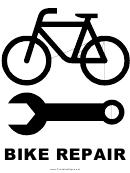 Bike Repair Sign