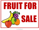 Fruit For Sale Sign