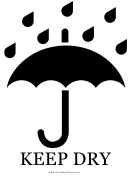 Keep Dry With Caption Sign