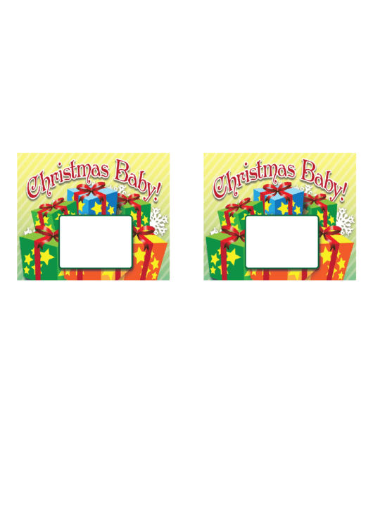 Christmas Baby Announcement Template
