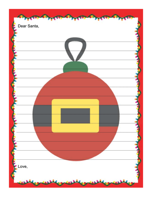 Lined Santa Letter Writing Paper Template