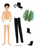 Indiana Jones Paper Doll Template