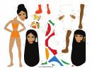 Burka Paper Doll