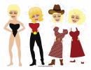Monroe Paper Doll Template