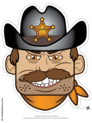 Sheriff Male Mask Template
