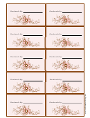 Gift Tag Template: Handmade By ___