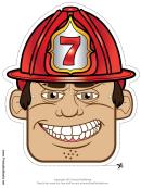 Fireman Mask Template
