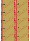 Gift Tag Template - Fragile