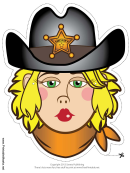 Blond Sheriff Mask Template