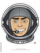 Astronaut Mask Template