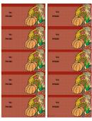 Seasonal Cornucopia Gift Tag Template