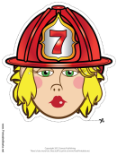 Firewoman Mask Template