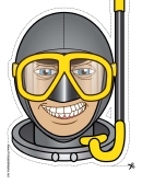 Diver Mask Template