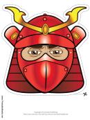 Samurai Mask Template