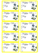 Boss Day Gift Tag Template