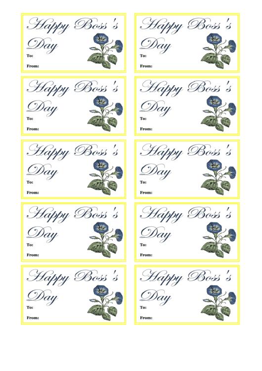 Boss Day Gift Tag Template Printable pdf