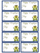Employee Day Gift Tag Template