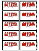Baseball Gift Tag Template - Go Team